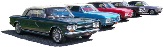 corvair lineup with earlies