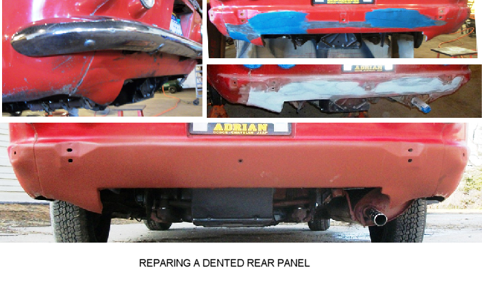 12  repairing a dented rear panel