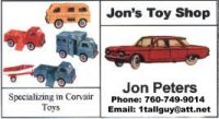 Corvair toys, almost every one available