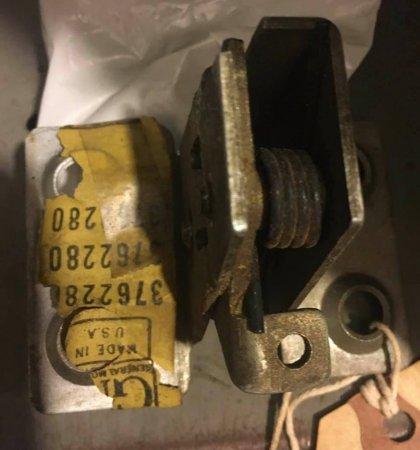 NOS 61-65 Corvan Greenbrier VAN DOOR LOCK ASSY, Left Front REAR DOOR