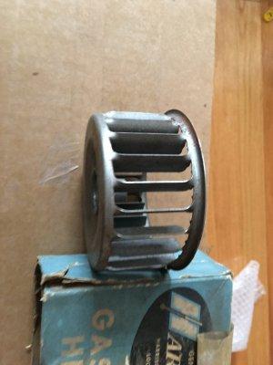 NOS gas heater squirrel fan