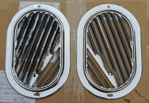 Grills - Chrome or black - your choice