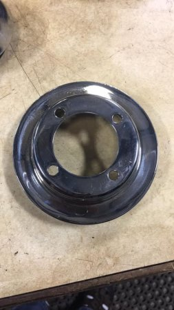 New Chrome Engine Fan pulley - early or late - read