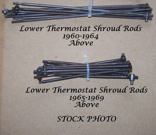 Thermostat rods - both early and late