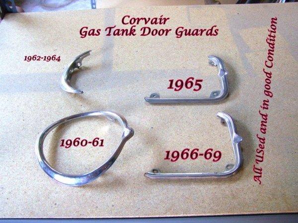 Gas door edge guard trim - you choose