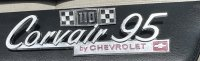 Nice Survivor Corvair 95 Emblems - Polished and painted touch up