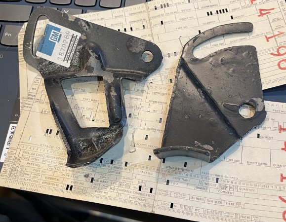 NOS belt guards - comes w/ gm punch cards