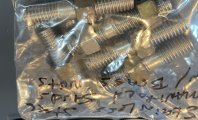 STAINLESS STUDS WITH BRASS NUTS - 2 STUDS TWO NUTS