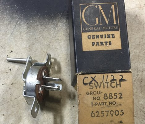 1960-63 SWITCH-GAS HEATER CONTROL
